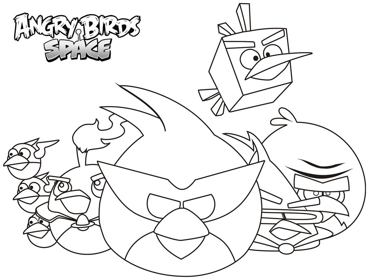 Simple Angry Birds Coloring Page