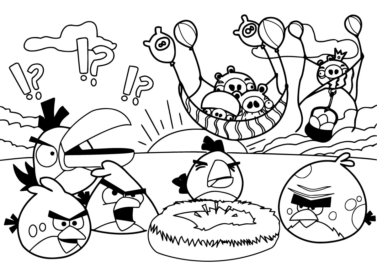 Beautiful Angry Birds Coloring Page