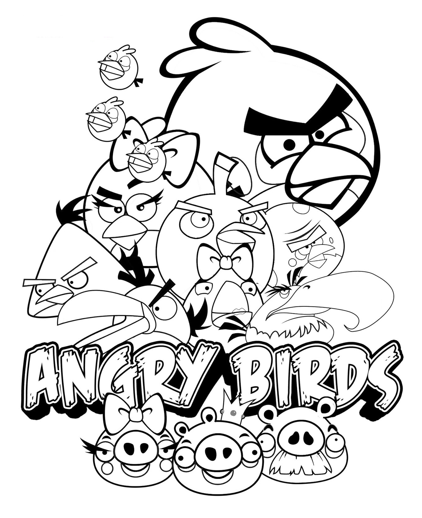 Angry Birds To Download For Free Angry Birds Kids Coloring Pages