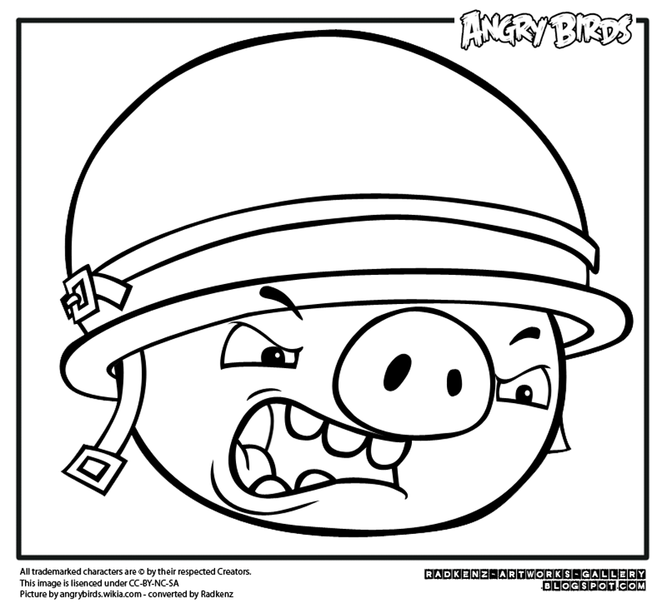 Angry Birds Coloring Page To Download