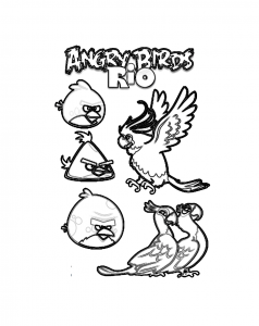 Coloring page angry birds to download