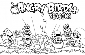 Coloring page angry birds to print
