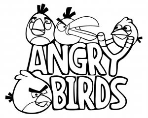 Coloring page angry birds free to color for children