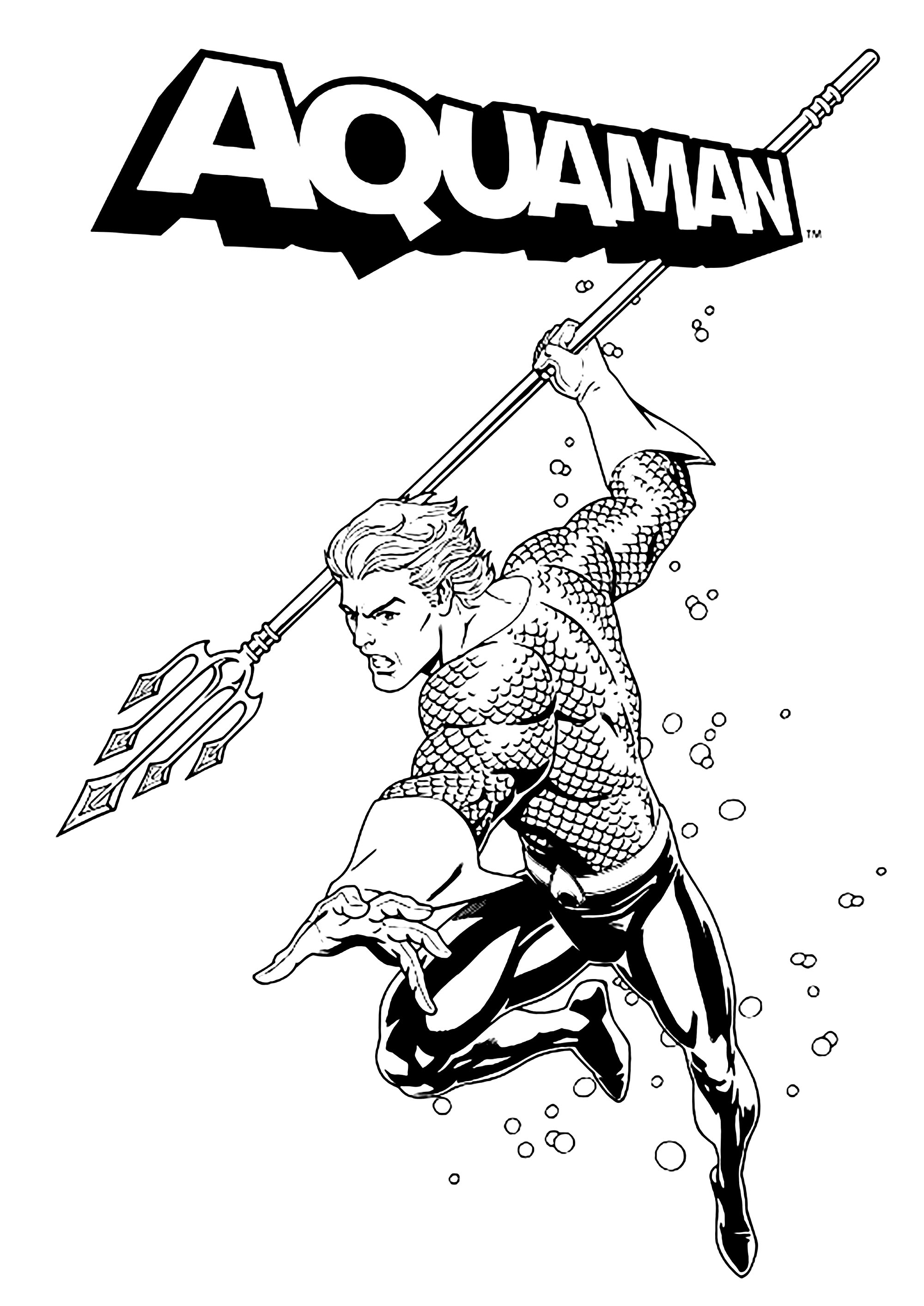 Beautiful Aquaman coloring page