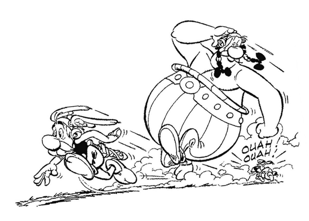 Beautiful Asterix coloring page to print and color