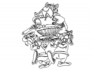 Coloring page asterix free to color for kids