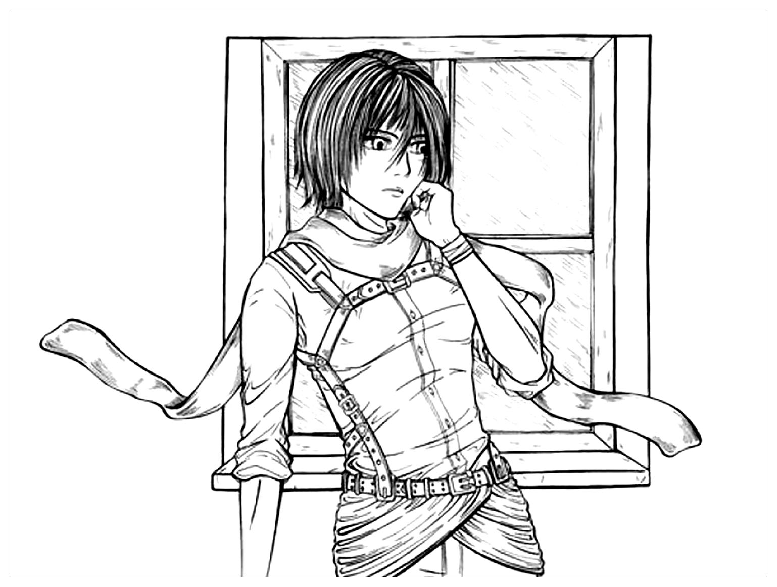 Attack On Titan Kids Coloring Pages
