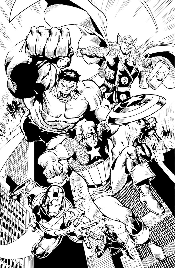 Avengers coloring page to download for free