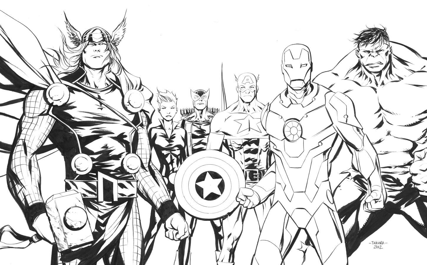 Avengers to color for kids Avengers