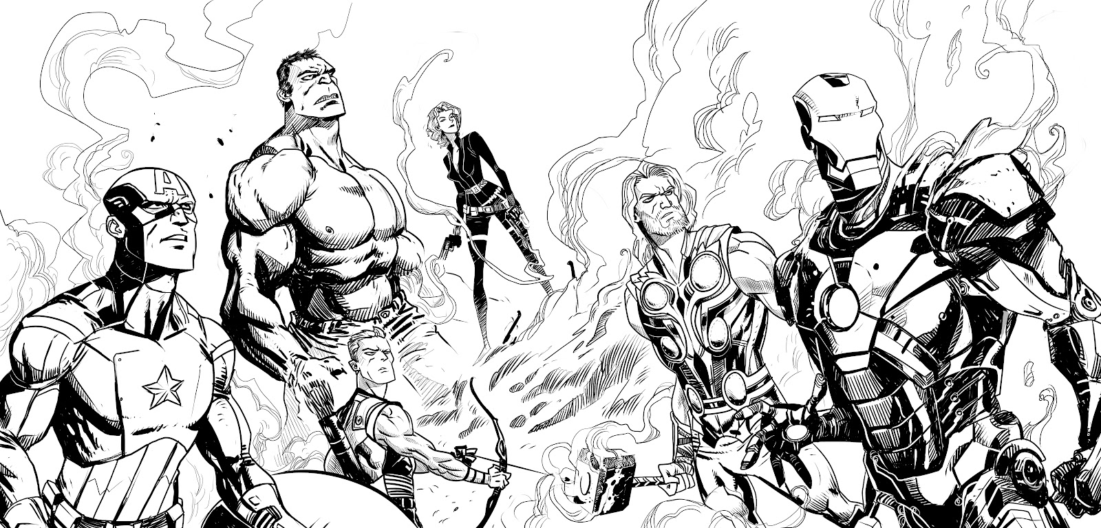 Avengers free to color for children - Avengers - Free printable ...