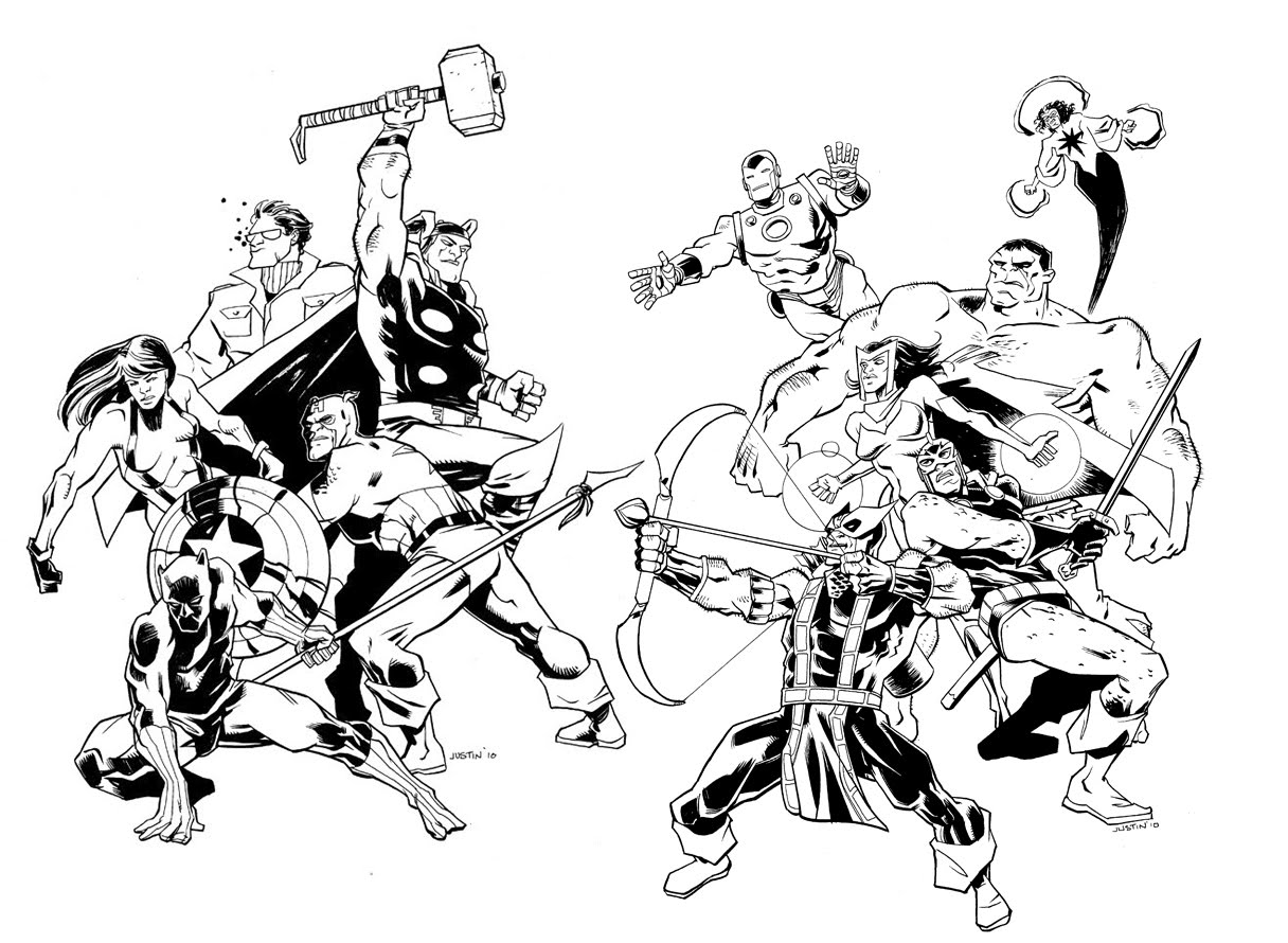 Avengers free to color for kids - Avengers Kids Coloring Pages