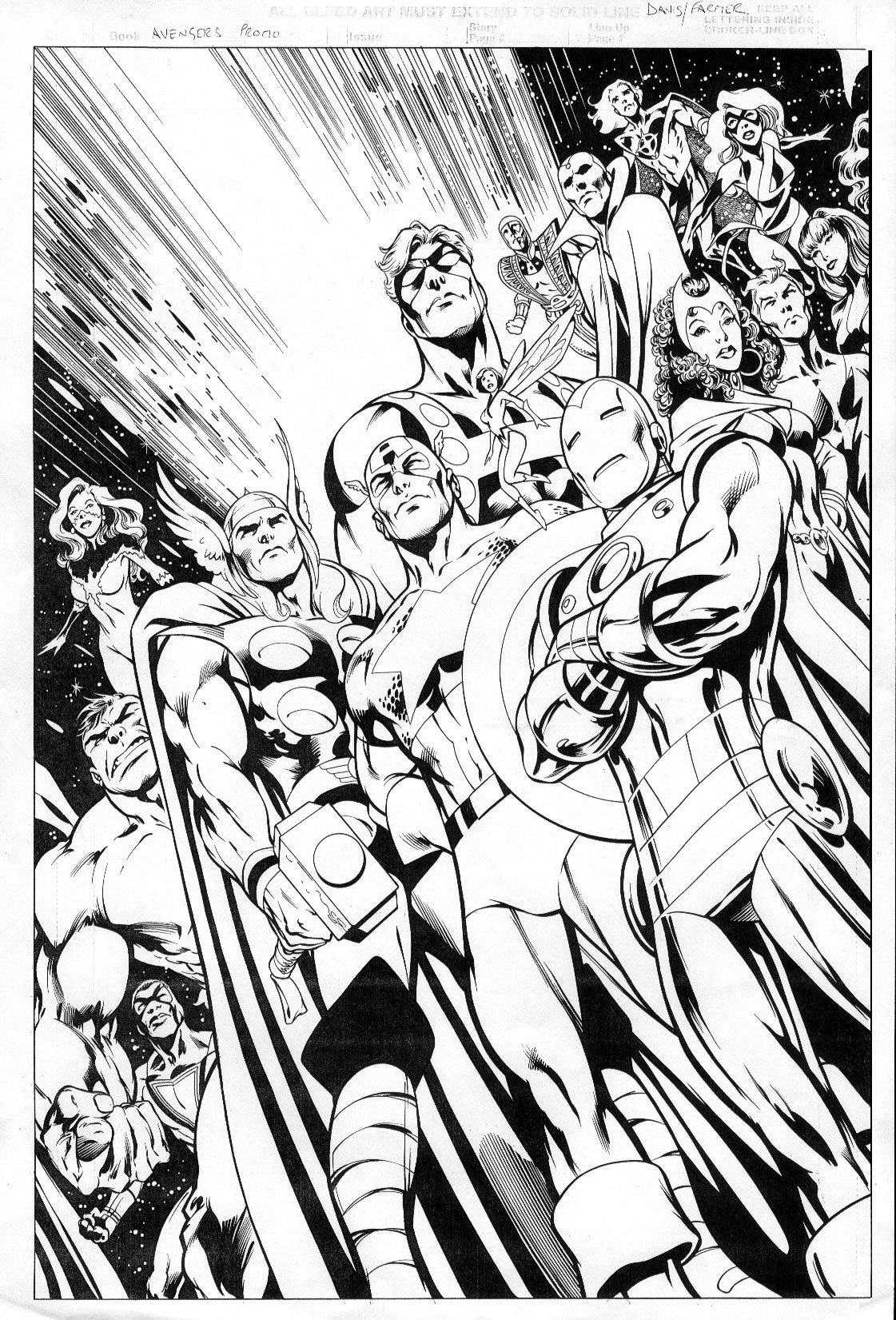 Avengers coloring page to print and color for free