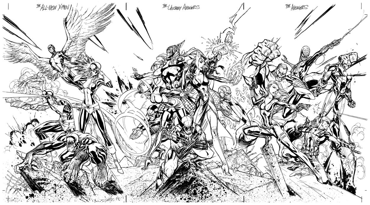 Free Avengers coloring page to download