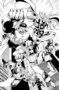 Coloring page avengers to download for free