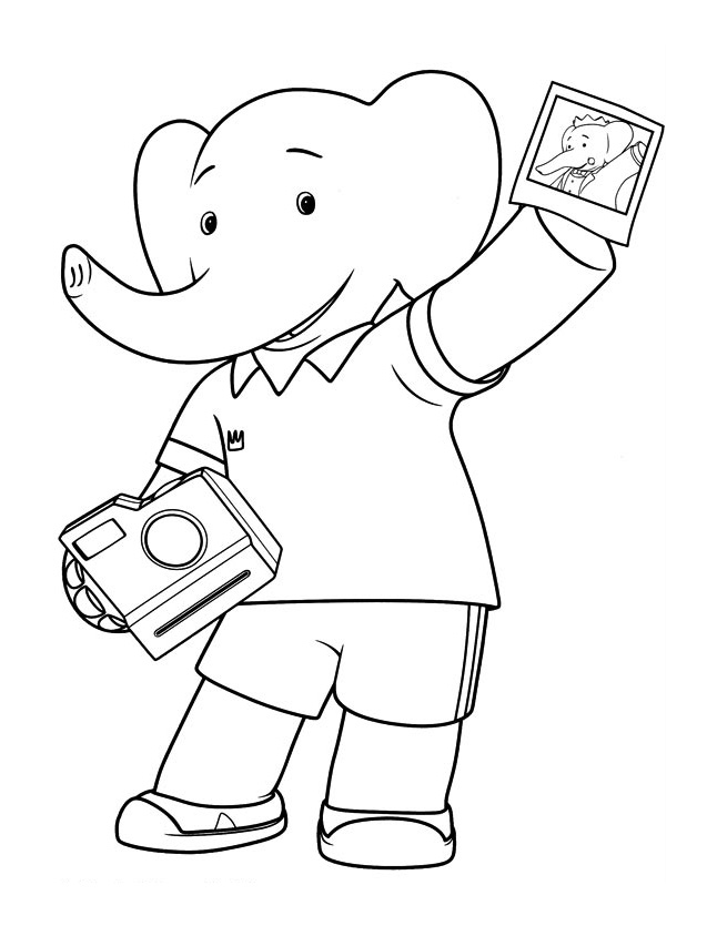 Babar coloring page to download
