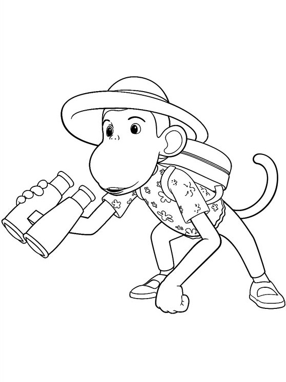 Babar coloring page to print and color