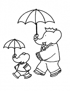 Coloring page babar to download