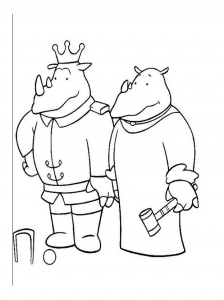 Coloring page babar to color for kids
