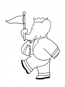 Coloring page babar to print for free