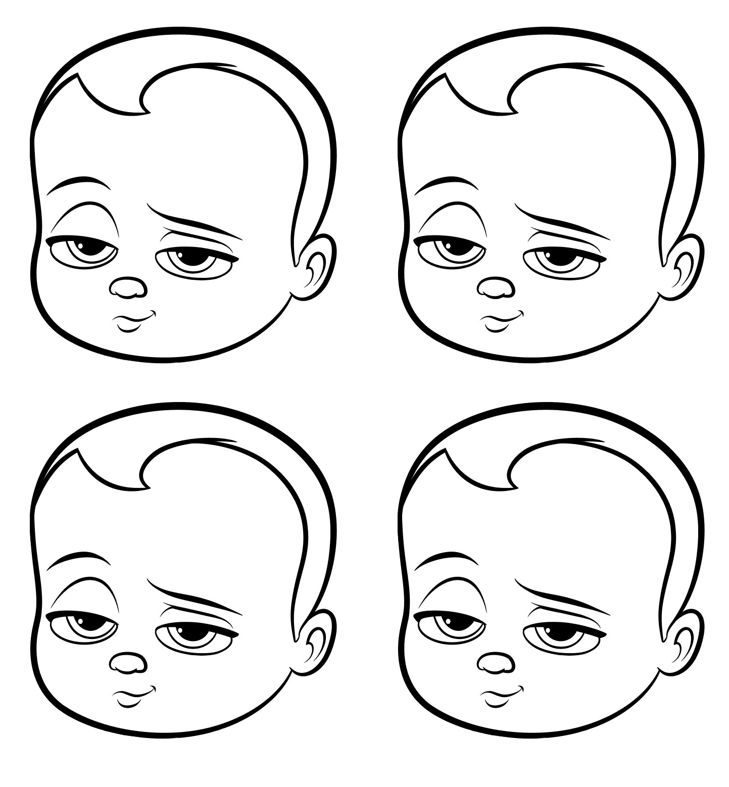Baby Boss coloring page with few details for kids