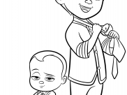 Baby Boss Coloring Pages for Kids