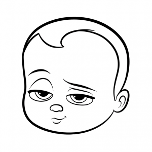 Coloring page baby boss to download
