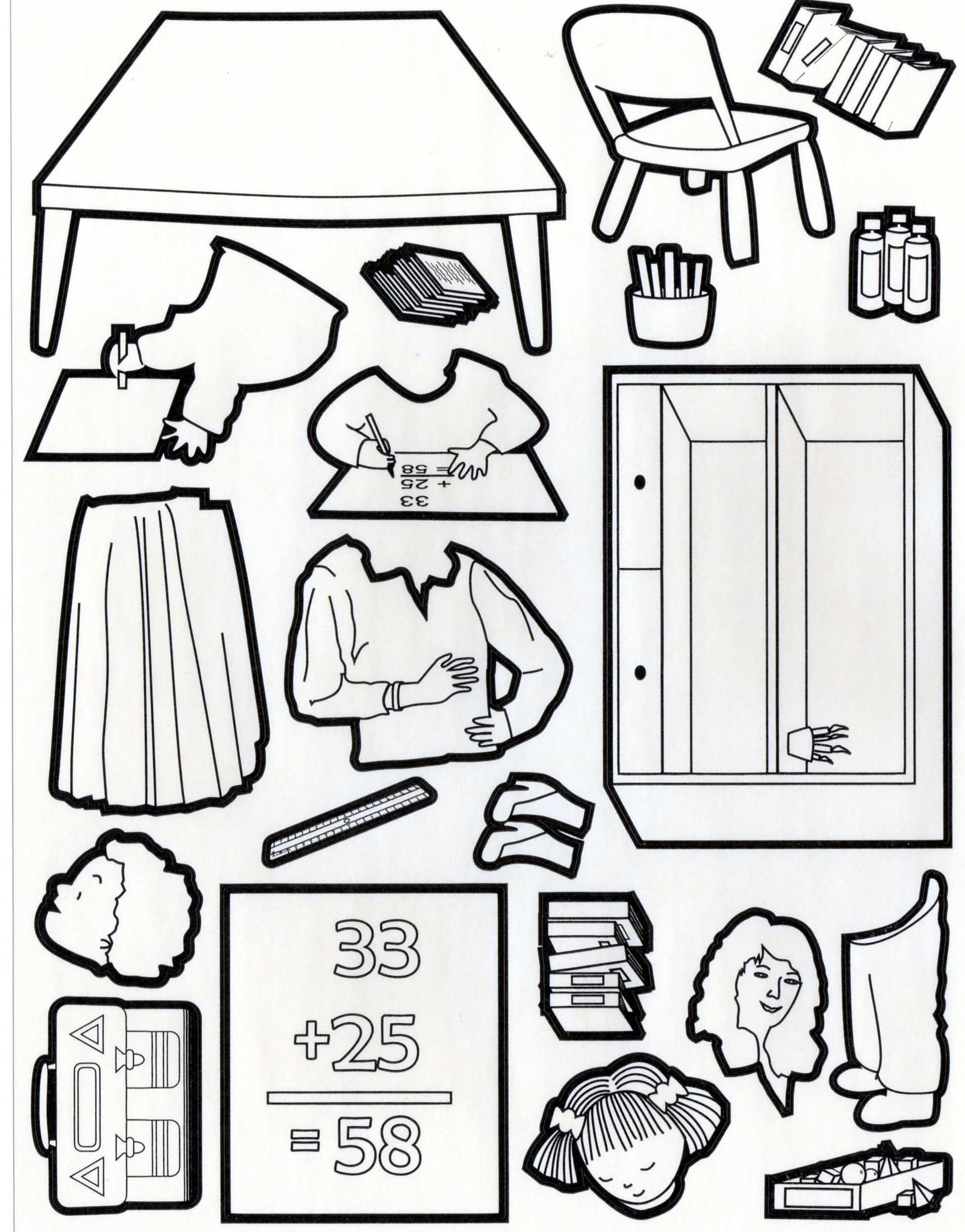 Simple free Back to school coloring page to print and color