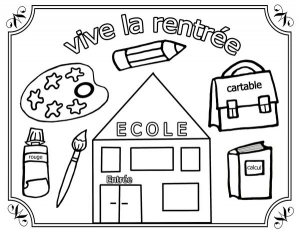 Coloring page back to school to download for free
