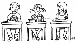 Coloring page back to school to print for free