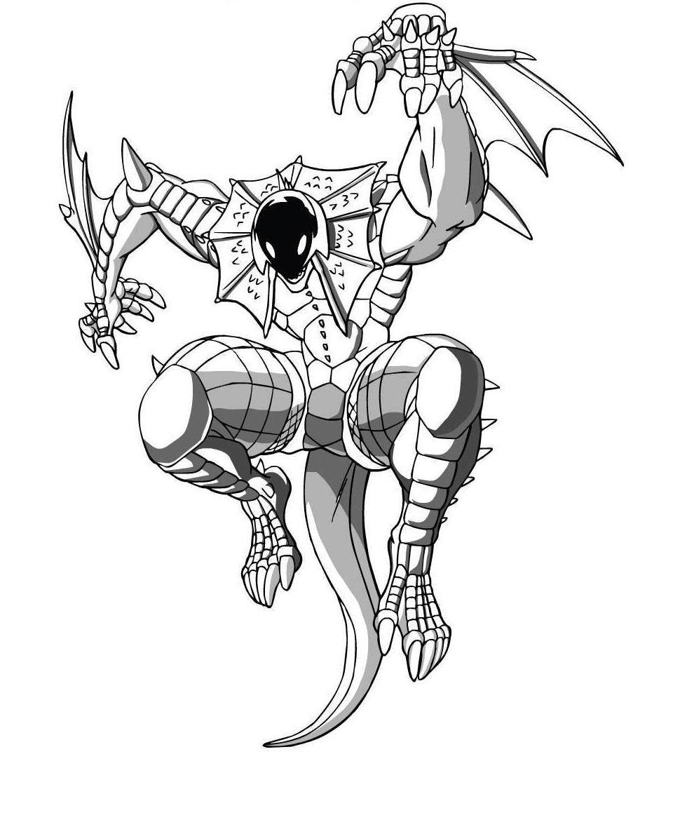 Incredible Bakugan coloring page to print and color for free
