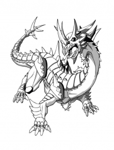 Coloring page bakugan for kids