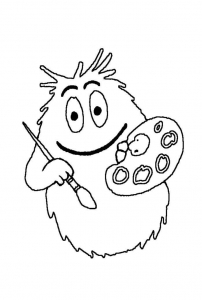 Coloring page barbapapas free to color for kids