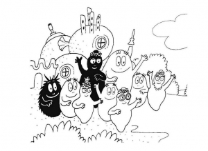 Coloring page barbapapas to color for kids