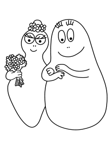 Coloring page barbapapas to download for free
