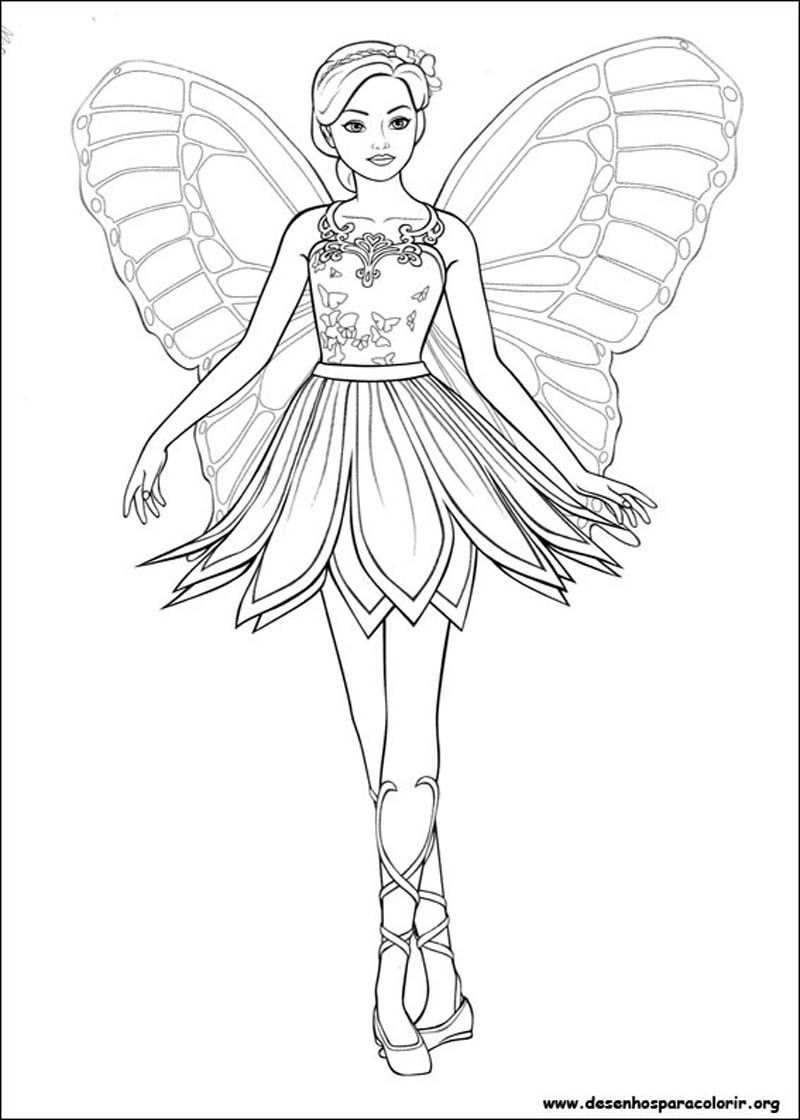- Barbie To Color For Children - Barbie Kids Coloring Pages