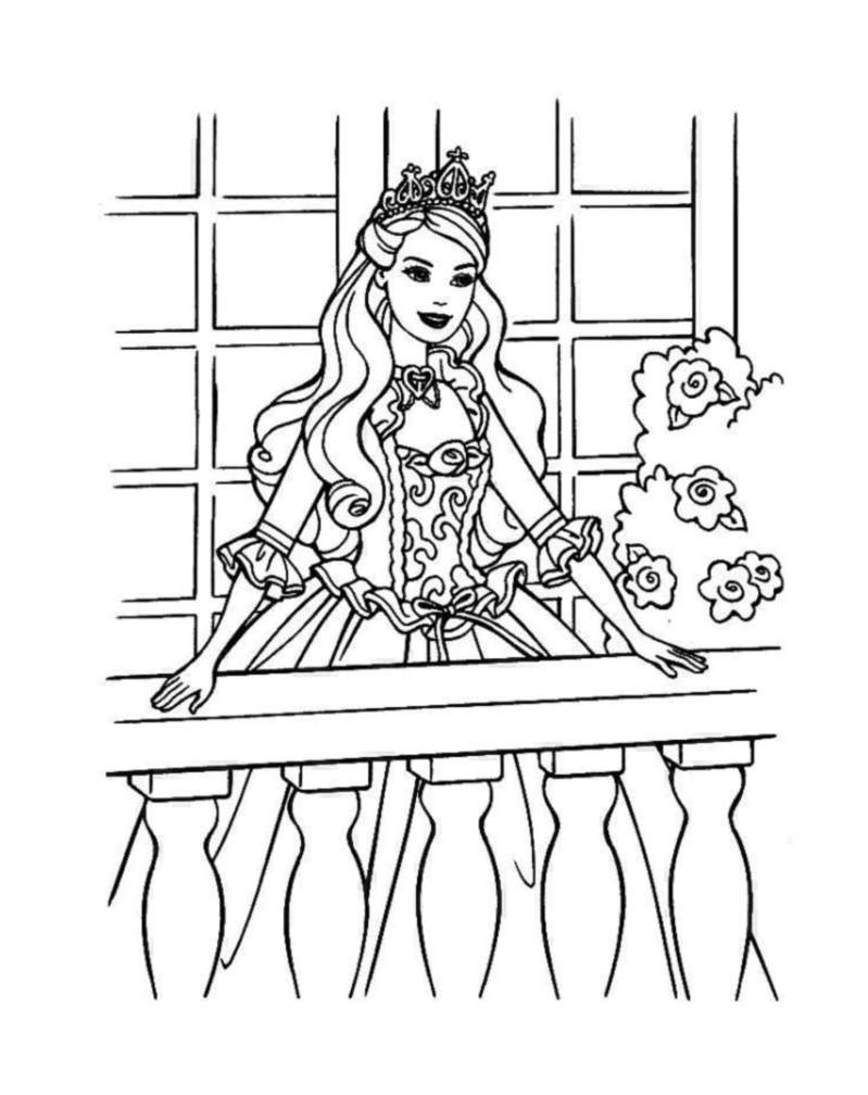 Barbie free to color for kids - Barbie Kids Coloring Pages
