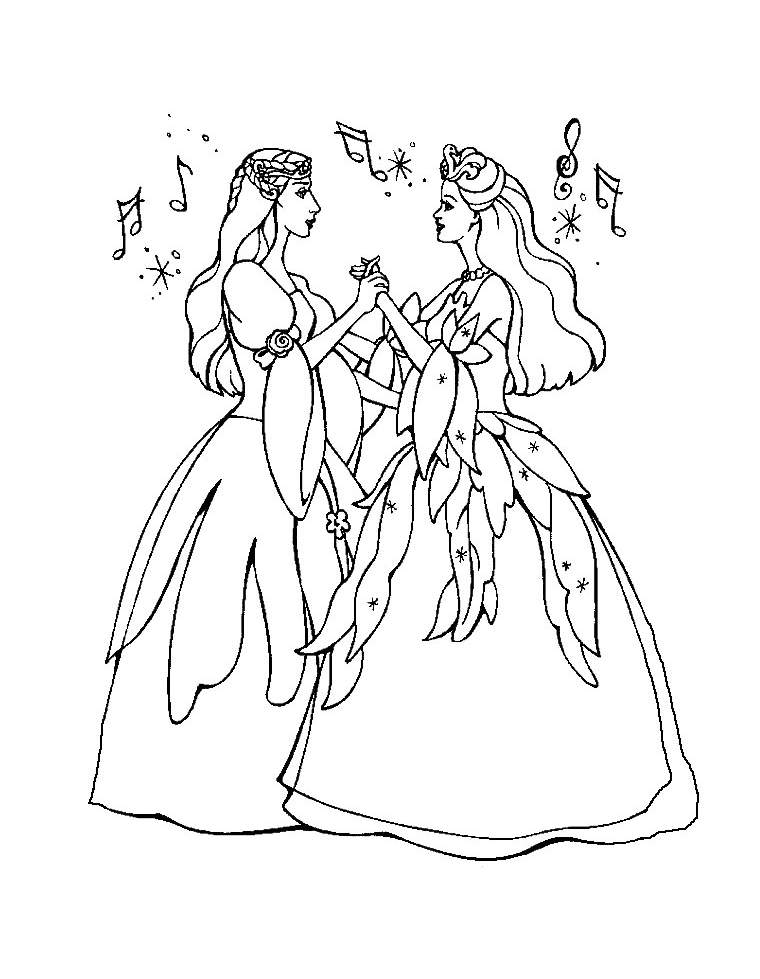 Beautiful Barbie Coloring Page