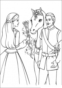 Coloring page barbie free to color for kids