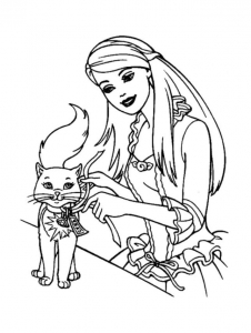 Coloring page barbie to download for free