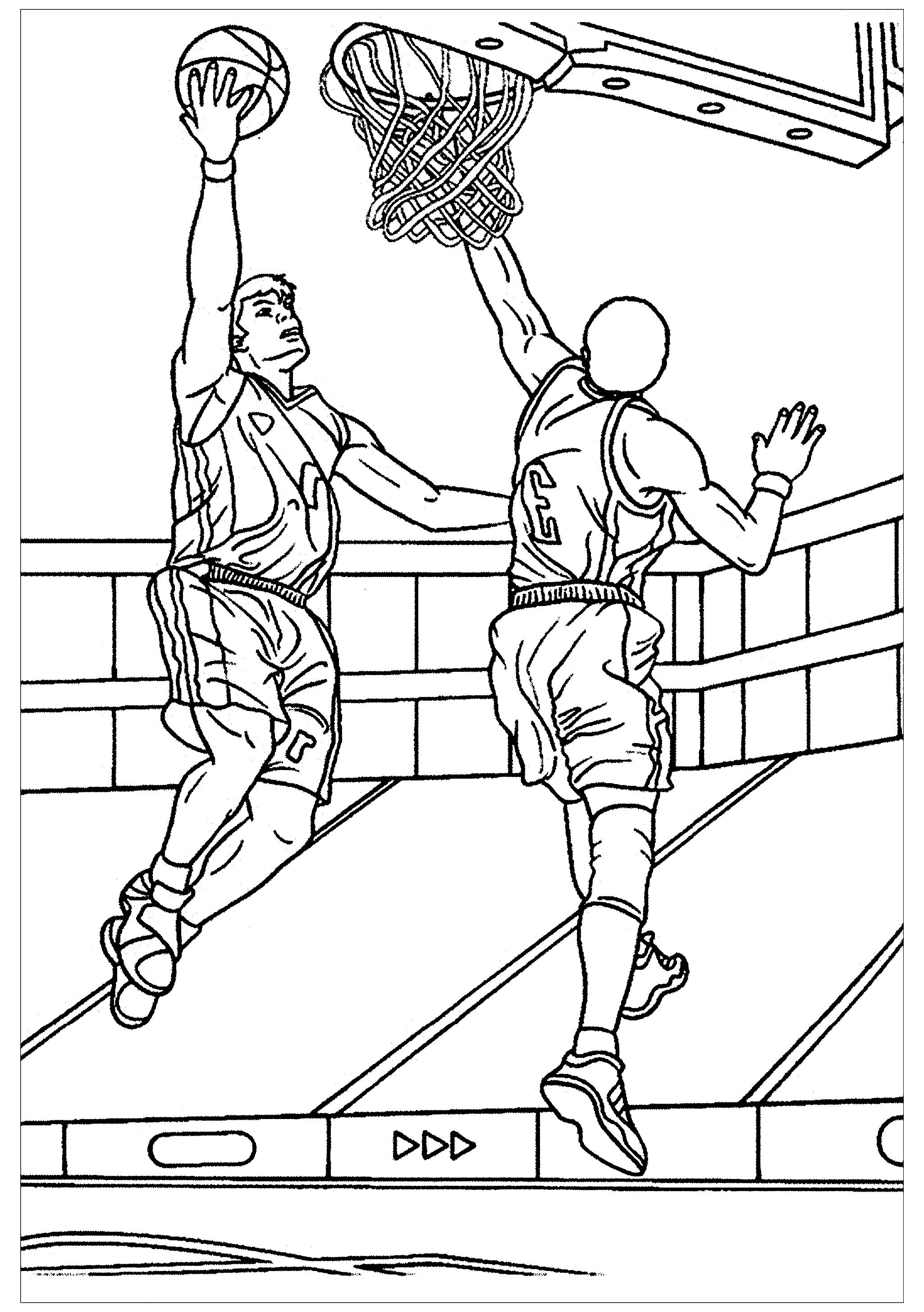 - Basketball To Color For Children - Basketball Kids Coloring Pages