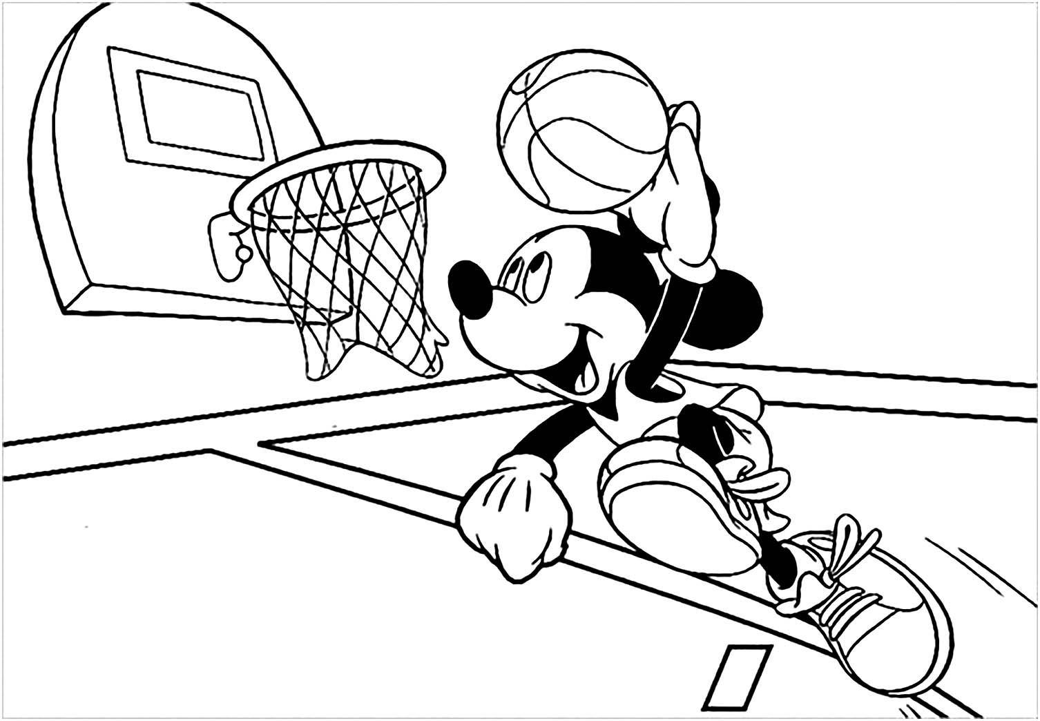 Basketball Kids Coloring Pages