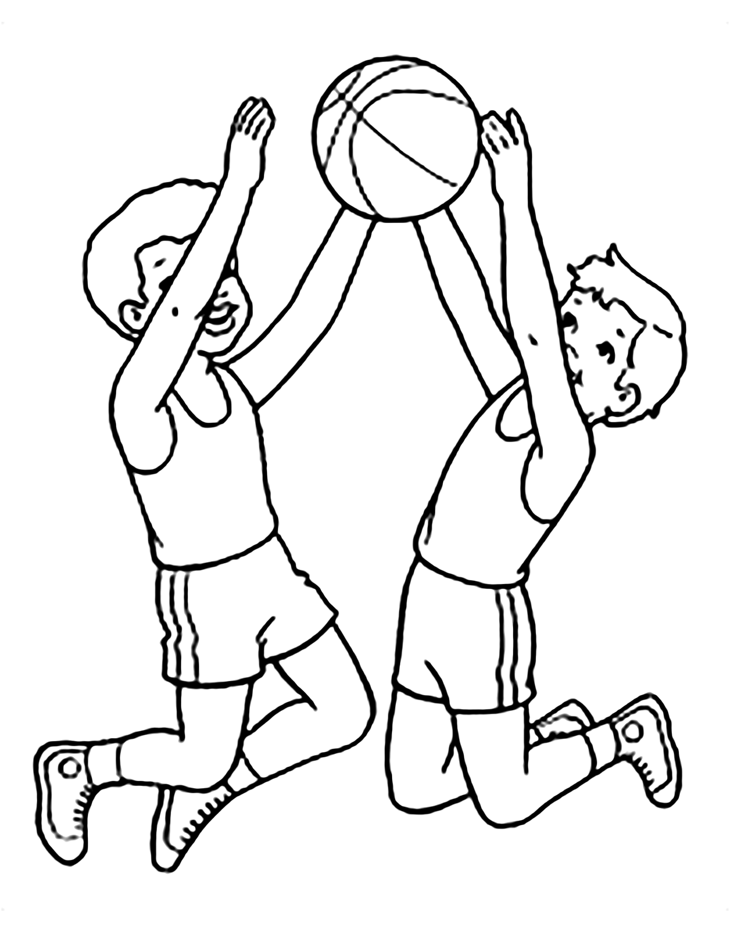 - Basketball For Children - Basketball Kids Coloring Pages