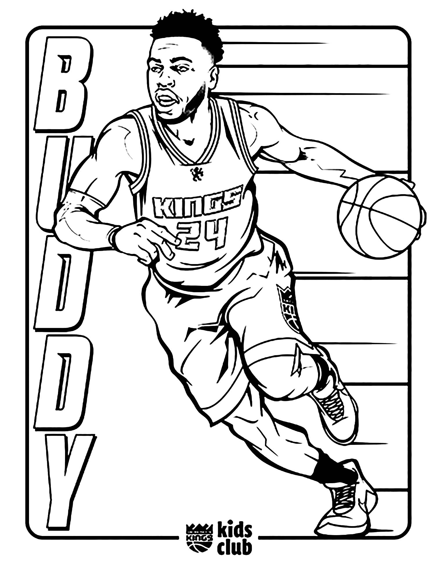 Basketball to print for free