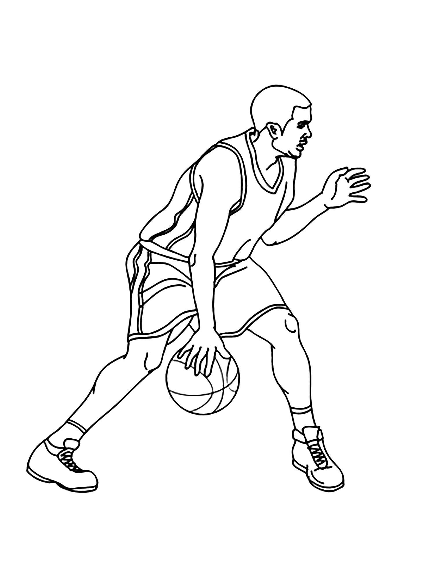 Cute free Basketball coloring page to download