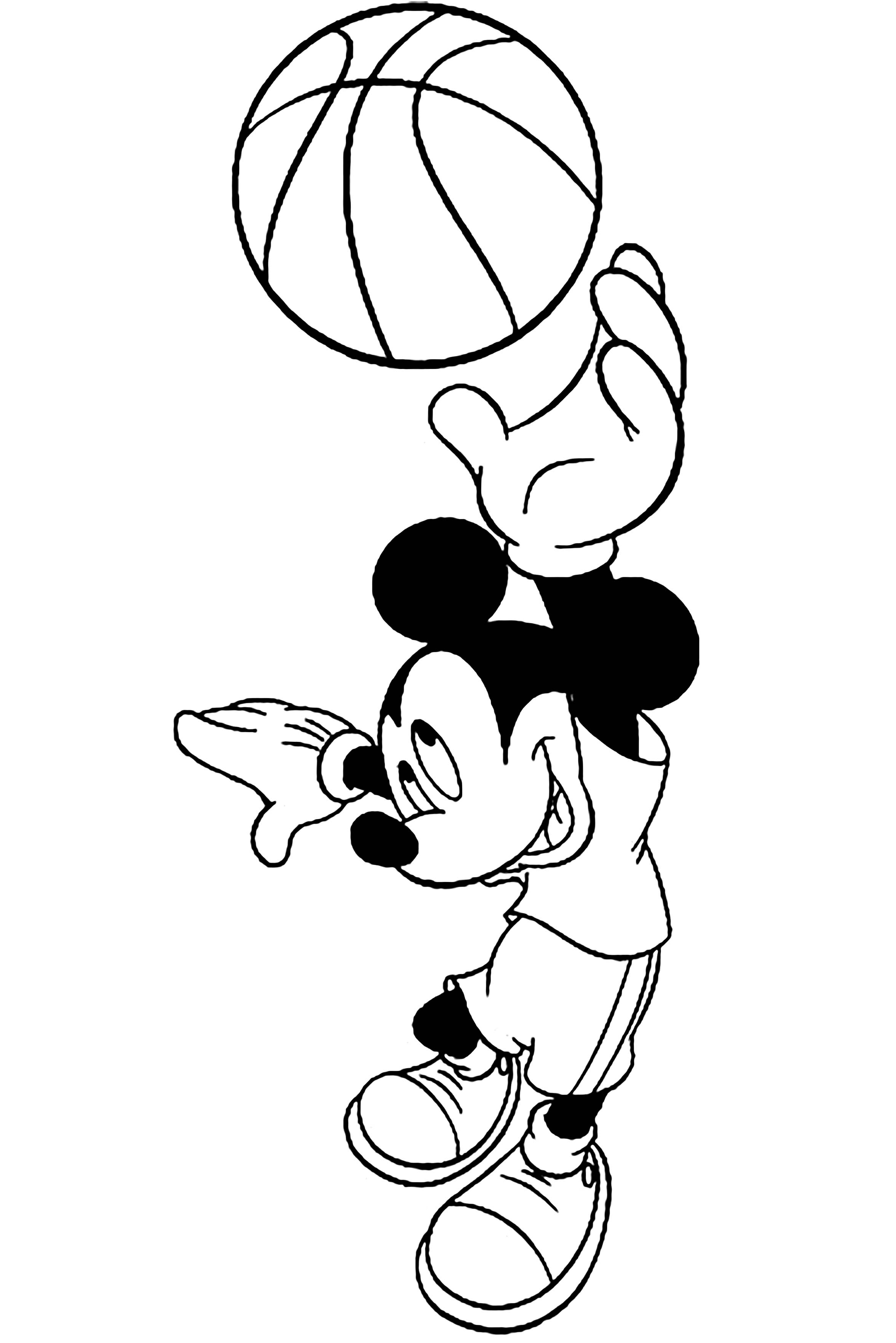 Simple free Basketball coloring page to print and color