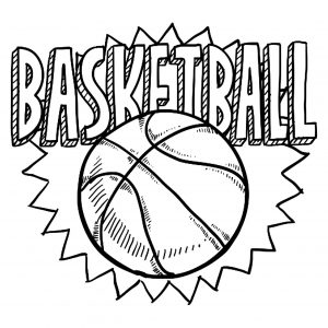 Coloring page basketball free to color for children