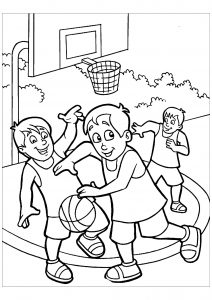 Coloring page basketball free to color for kids