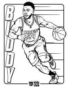 Coloring page basketball to print for free