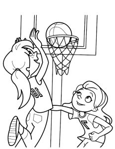 Coloring page basketball for children