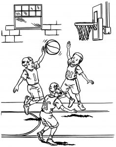 Basketball Hoop Coloring Page Ultra Pages - Basketball Hoop ... | 300x236